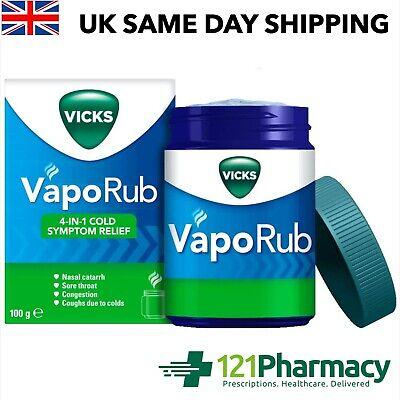 Vicks Vaporub ointment - 100g Helps nasal catarrh, sore throat, congestion, coug