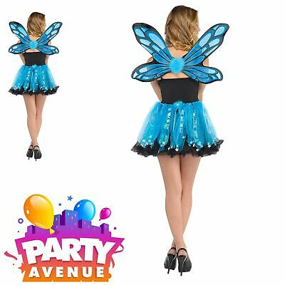 Ladies Blue Pixie Fairy Kit Set Accessories Adult Fancy Dres