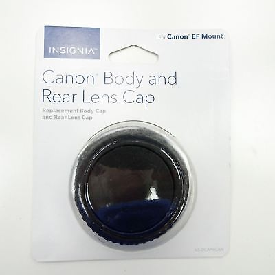 Insignia™ – Body and Rear Lens Caps for Canon