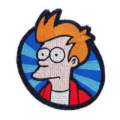 Philip J. Fry from Futurama Embroidered Iron-On Patch 4 1/8
