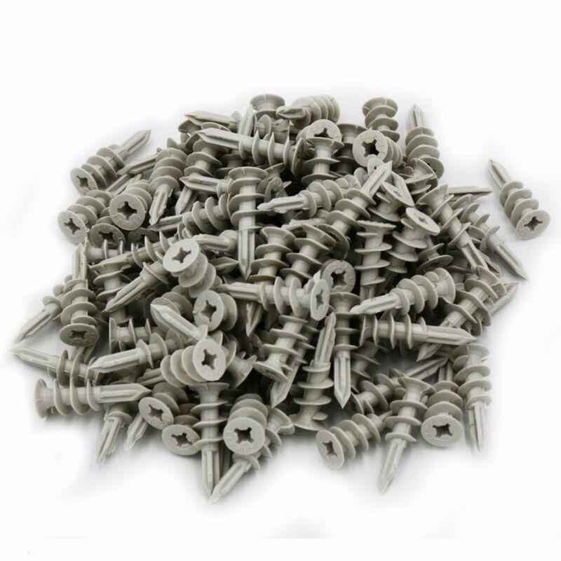 120x Self Drilling Wall 30 lbs Threaded Twist Drywall Anchors for #6-8 Screws
