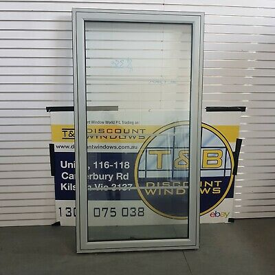 2055H x 1090W Aluminium Awning Window (Item 4726) Silver DOUBLE GLAZED