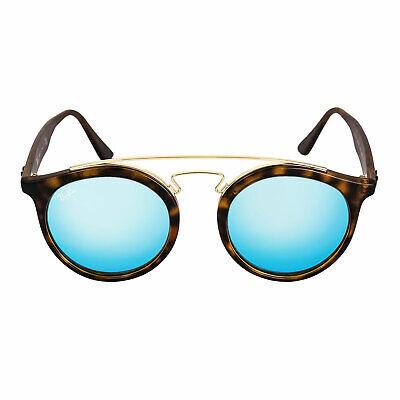 Ray-Ban Women's Sunglasses Blue Mirror Lens Tortoise Frame RB 4256 609255 49