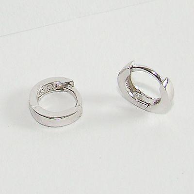 Ohrringe Silber 925 Creolen 9 mm ECHT Sterlingsilber Klappcreole Silberschmuck