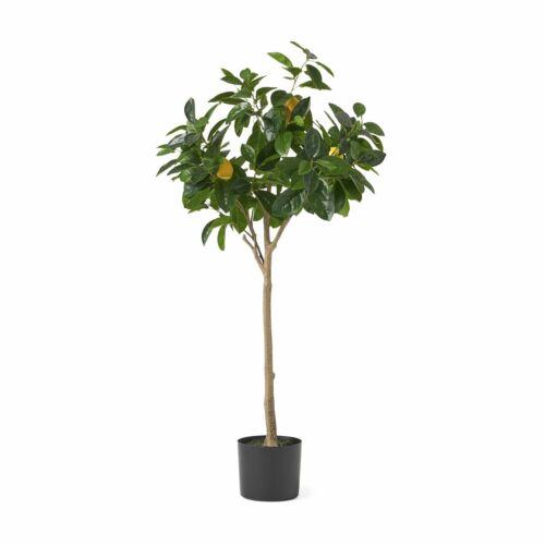 Wallowa Artificial Tabletop Lemon Tree, Green Floral Décor