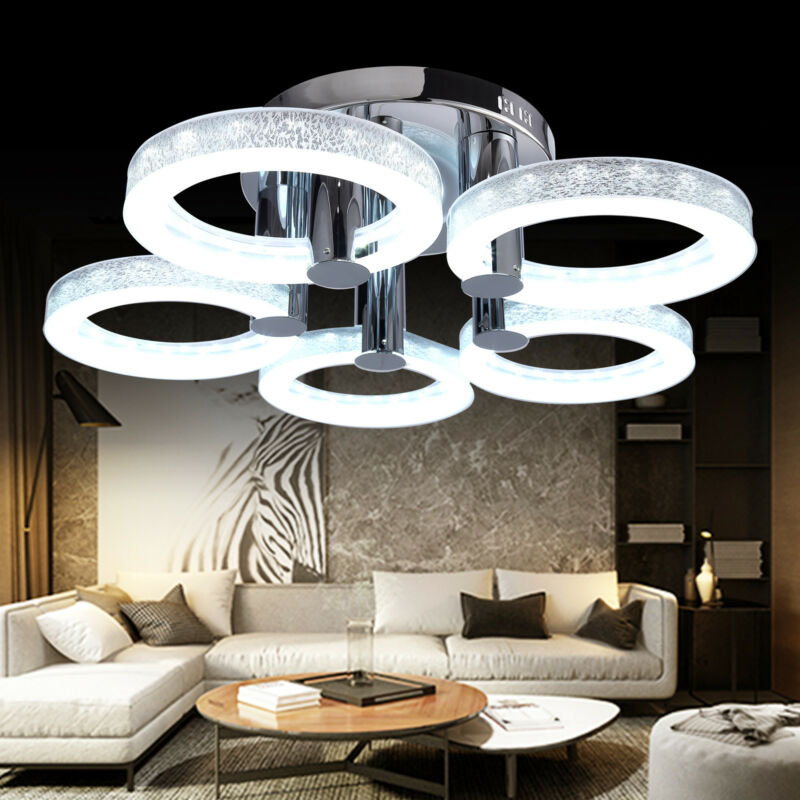 European Modern Style LED Acrylic Chandeliers Ceiling Light Lamp with 5 Lights