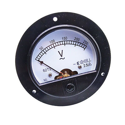 Us Stock Ac 0 250v Round Analog Volt Pointer Needle Panel Meter Voltmeter