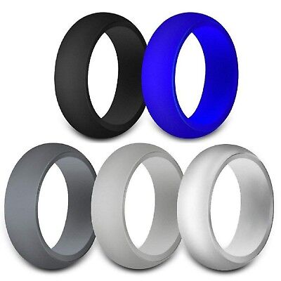 Rubber Silicone Wedding Ring Band Sport Outdoor Flexible Men Women Gifts](Rubber Man)