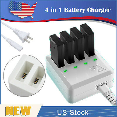 4X1 Multi Battery Charger Intelligent Quick Charging For DJI Tello Drone US Plug
