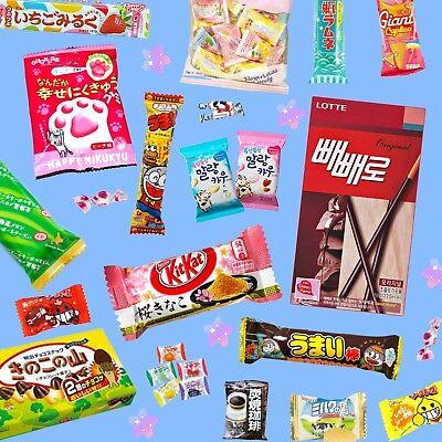 ♡ MYSTERY DAGASHI BOX 5pc ♡ Japanese Korean Candy Snacks Lollipop Kit Kat Food