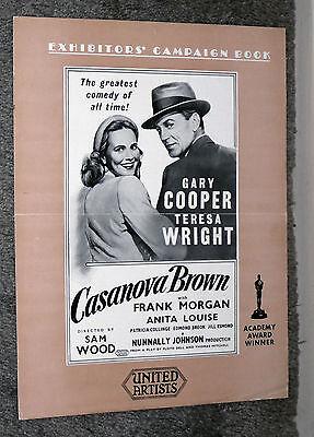 CASANOVA BROWN original pressbook GARY COOPER/TERESA WRIGHT