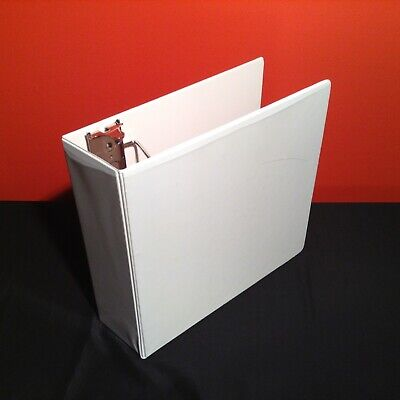 Two 2 3 Three Ring Binders Office Orginizer White Cover