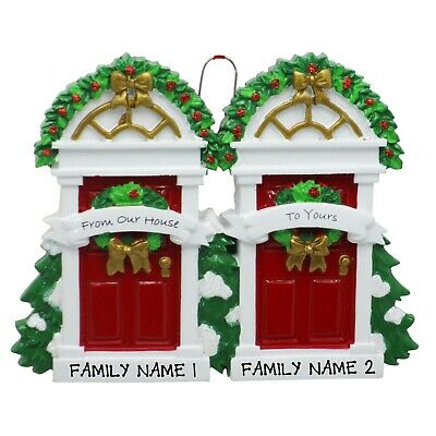 PERSONALIZED From Our House To Yours Neighbors Christmas Tree Ornament 2019 Gift ()