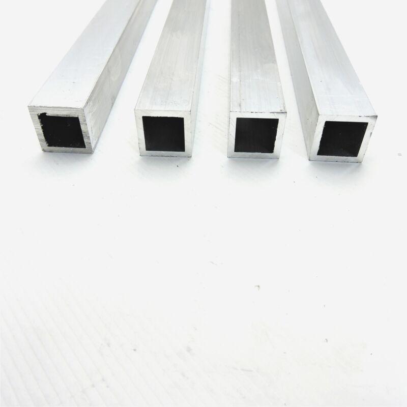 "1"" x 1"" OD Alumnum Square TUBING  0.125"" wall thick 32.5"" long QTY 4 sku174013"