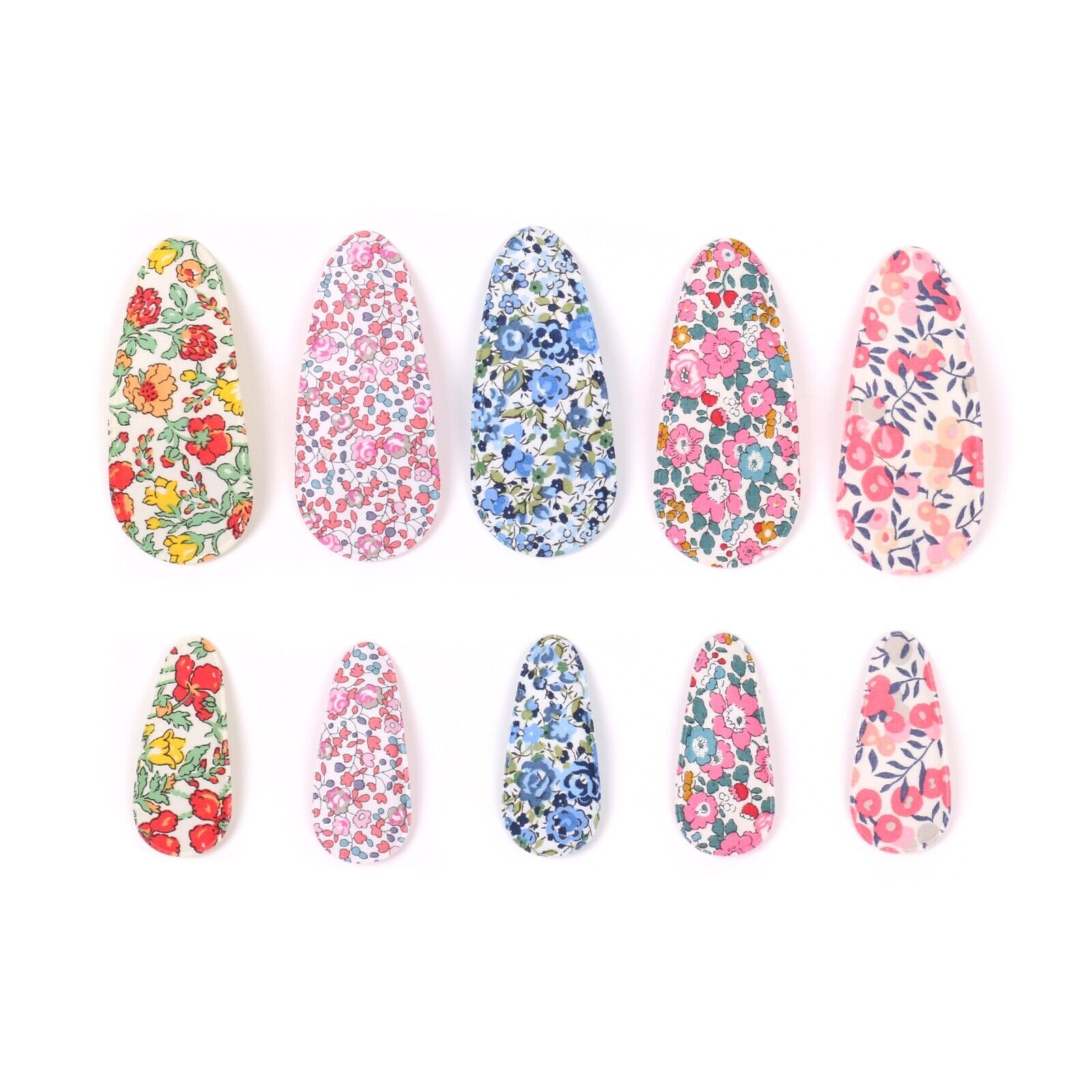 Liberty London Fabric Snap Clips Big or Small Clips Hair Cli