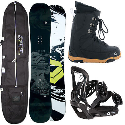HERREN SNOWBOARD FTWO BLACKDECK 154 CM + FTWO SONIC BINDUNG L + BOOTS + BAG