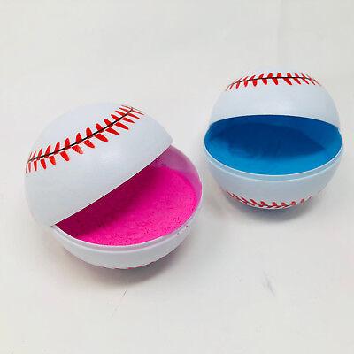 Gender Reveal Baseballs - 1 Pink and 1 - Baseball Baby Shower Decorations