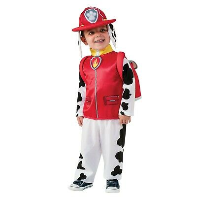 Boys Kids Marshall Paw Patrol Fancy Dress Costume Fireman Outfit Age 3-4 Years