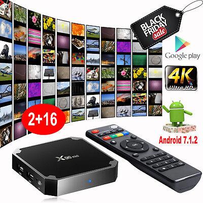 X96 MINI S905W 2+16G Android 7.1.2 Nougat 4K Quad Core Smart TV BOX WIFI MINI PC