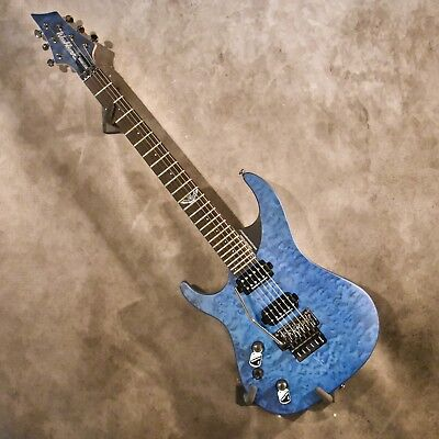 Washburn Left Handed Parallaxe PXM10BQ Quilt Top Trans Blue Lefty Guitar