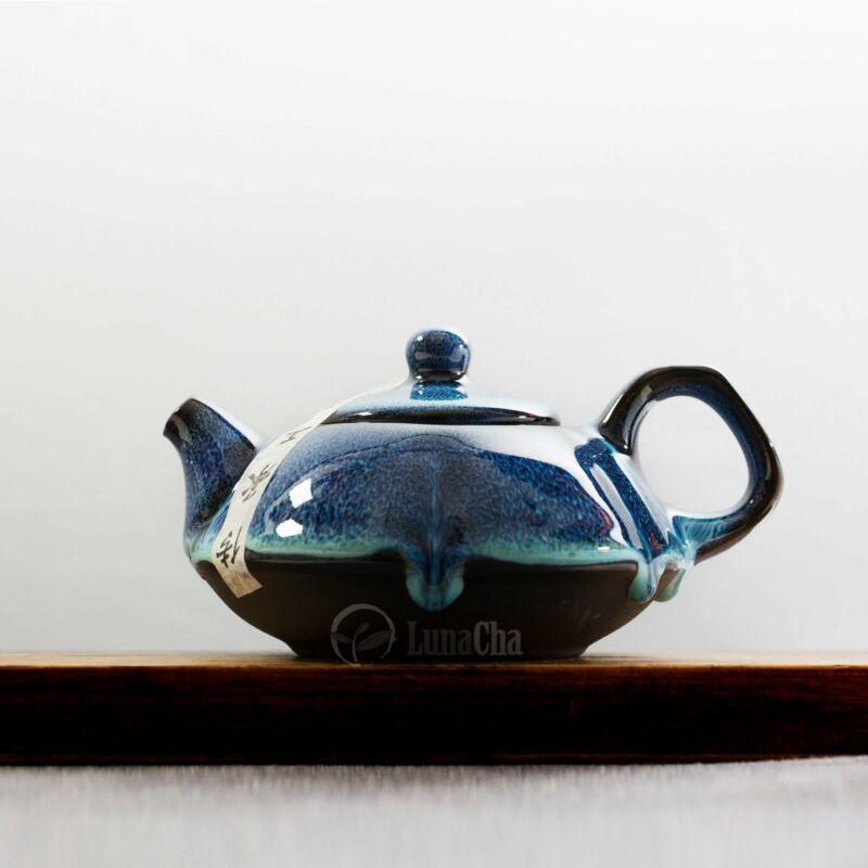 Tenmoku Blue Amber Teapot Set