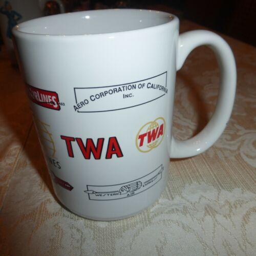 TWA Maddux Standard Airlines Mug