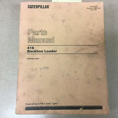 Cat Caterpillar 416 Tractor Backhoe Loader Parts Manual Catalog Sn 5pc6192-10761