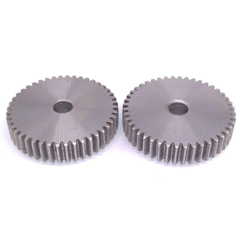 2pcs 1 Mod 45T Spur Gear 45# Steel Motor Pinion Gear Thickness 10mm