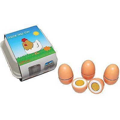 4 Eier zum Schneiden Kaufladen Spielküche Kaufmannsladen Zubehör Kaufladen Neu