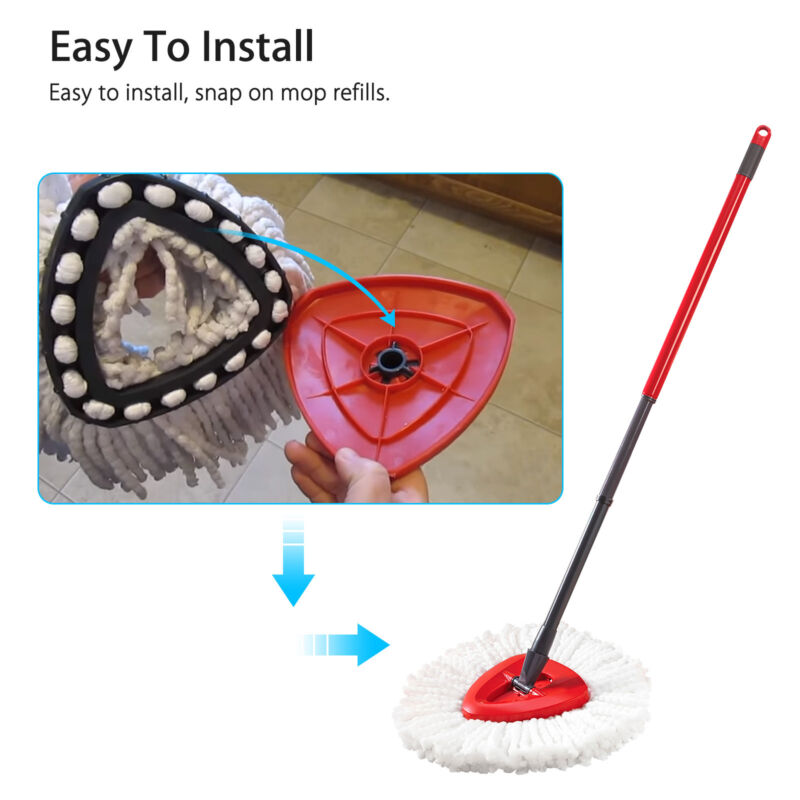 Replacement Heads Easy Cleaning Mopping Wring Spin Mop Refill Mop