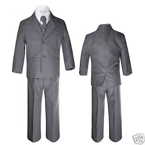Boys Suit Style BY 5 Piece Suit in Choice of Color with Shirt and Tie. $ $ Choice of Navy, Silver, Khaki, White or Black. Choice of Light Grey, Dark Grey, Black, White, Brown, Olive, Navy, Ivory, and Khaki. Boys 5 piece Suit 2 Button Style Choice of Color.