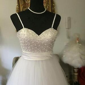 Deb ,Debutante, Wedding White /Ivory Dress Ferntree Gully Knox Area Preview