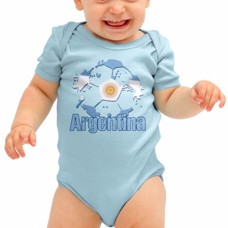 Argentina Football Shirt Messi Baby Grow Pumas Romper Suit Babygrow SuitB40