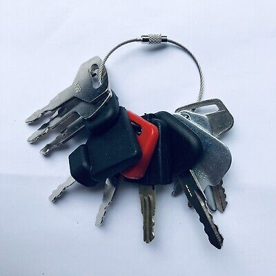 10 Keys Heavy Equipment / Construction Ignition Key Set