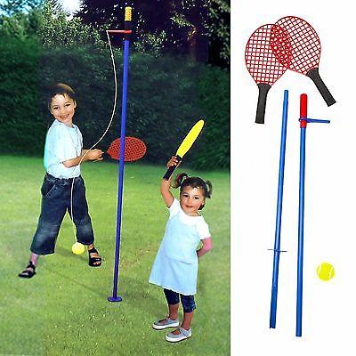 Swing Tennis Set Children Gyro Totem Tennis Set 2 Racquets Ball Adjustable Pole