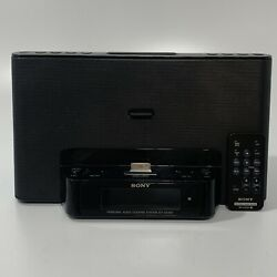 SONY iPod Alarm Clock Radio Speaker Dock ICF-CS15iP w/ Remote
