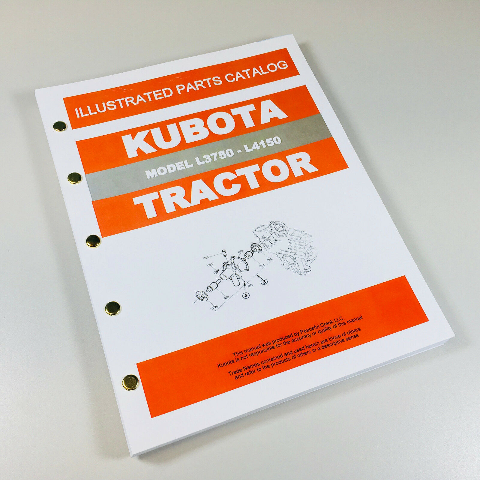 KUBOTA L3750 L4150 TRACTOR PARTS MANUAL CATALOG. Complete Parts/Numbers/Exploded  Views. 248 Pages