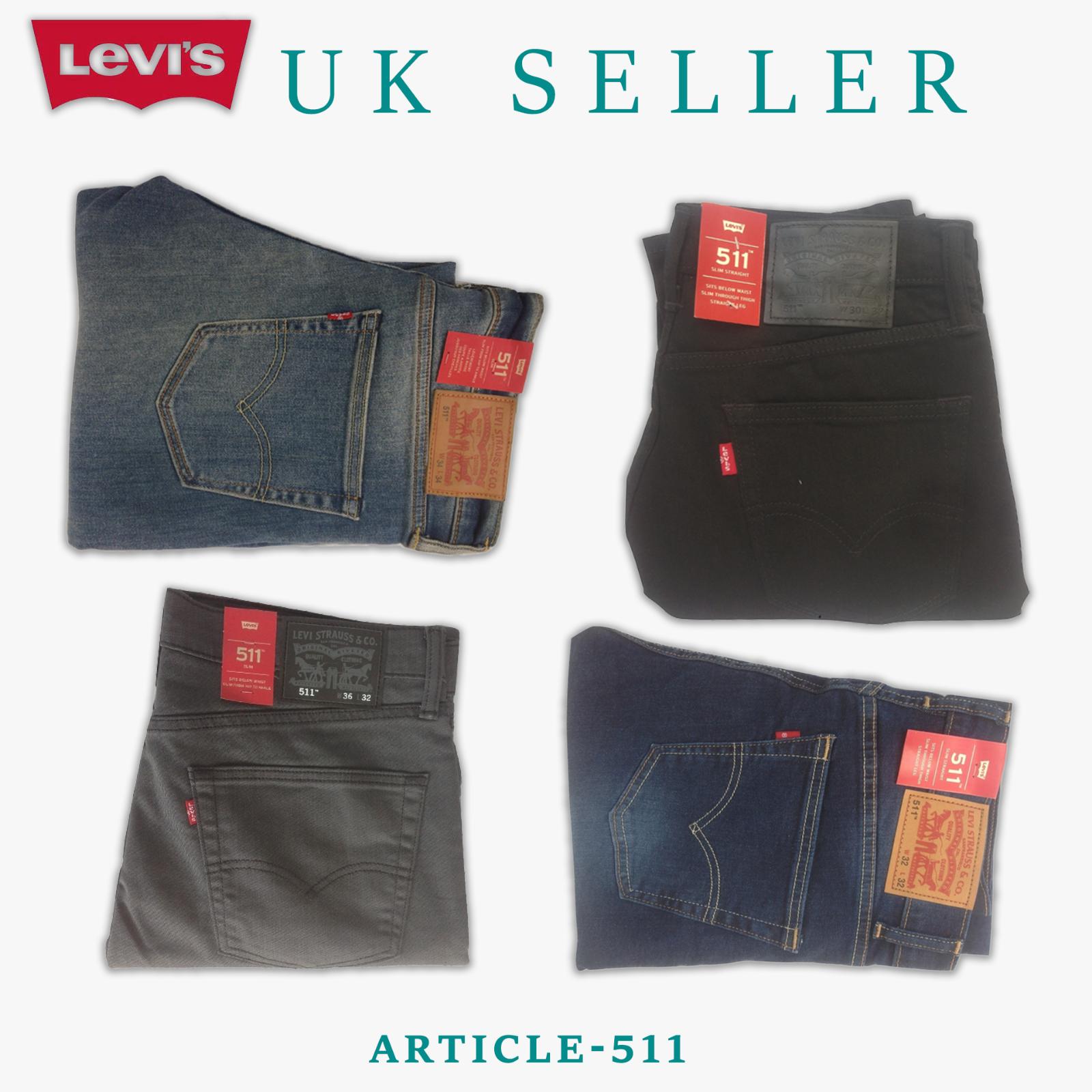Levis 511 Slim Fit Men's Jeans Stretch Denim Comfortable Blu