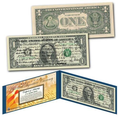 ALL 45 U.S. PRESIDENT SIGNATURES Genuine Legal Tender US $1 Bill - World