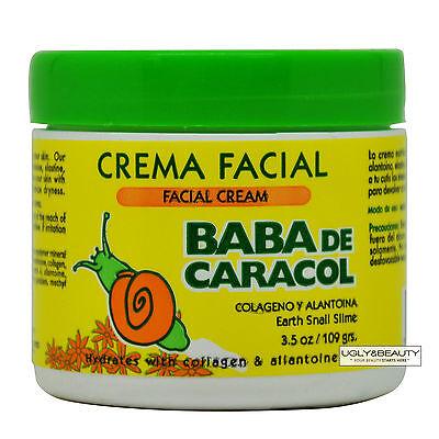 Baba De Caracol Earth Snail Slime Facial Cream 3.5 Oz. / 109 grams Crema Facial