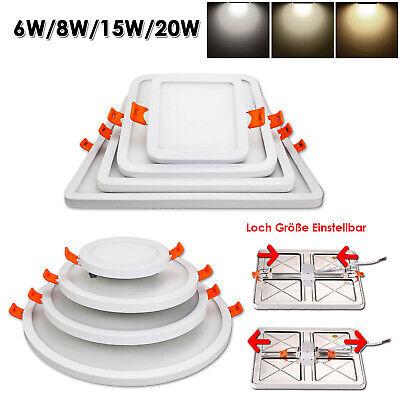 Ultraslim LED Panel Aufputz Deckenleuchte Wandleuchte Einbaustrahler Deckenlampe Ultra Slim Panel