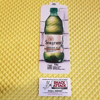Royal Vendors Soda Vending Machine Seagrams Ginger Ale 20oz Bottle Vend Label
