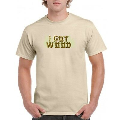 I Got Wood T Shirt Shaun of the Dead Simon Pegg Ed Costume Zombies Halloween](Shaun Of The Dead Halloween Costume)