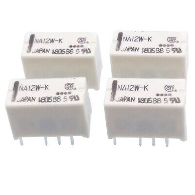 Us Stock 4pcs Na12w-k Dpdt Miniature Relay 12vdc For Signal Switching