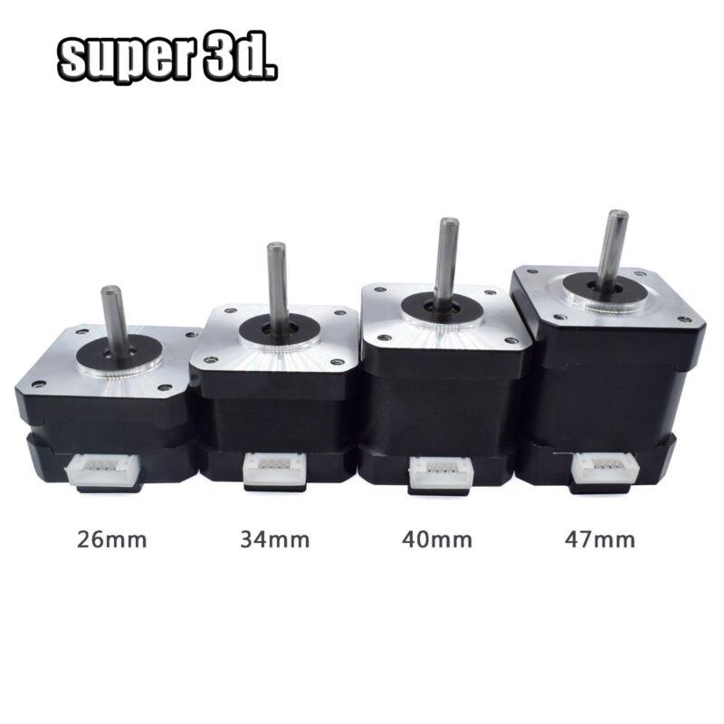 Nema 17 42 Stepper Motor Height 26/ 34/40/48mm 4-lead 12V for 3D Printer CNC par