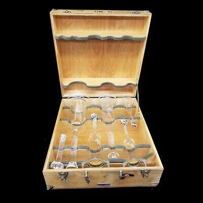 Vintage Sga Scientific Glass 6 Piece Flask Set Laboratory Glassware Wcase 3