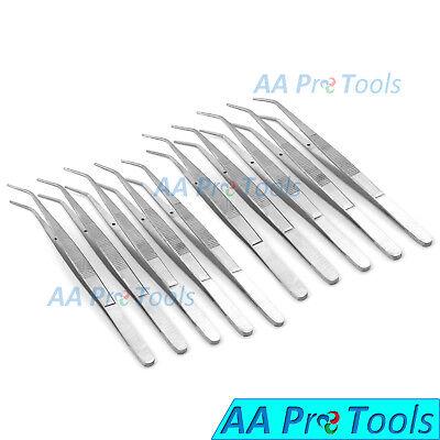 12pcs College Tweezers Cotton Dressing Pliers Dental Surgical New Set