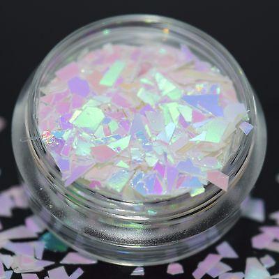 (84,50€/100g) Glitter Splitter Glitzer glittermix weiß 2g Basteln Dose NEU