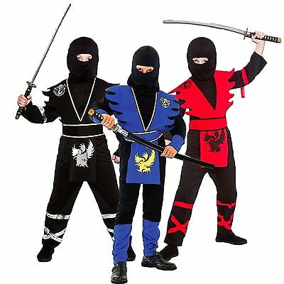 Samurai Kids Kostüme (*BOYS KIDS CHILDS NINJA ASSASSIN JAPANESE SAMURAI WARRIOR FANCY DRESS COSTUME*)