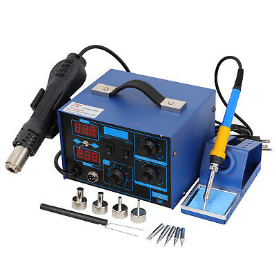 New Pro 2in1 862d Smd Soldering Iron Hot Air Rework Station W 4 Nozzles
